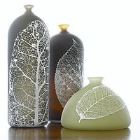 Leaf Bottles: Nick Chase: Art Glass Vase - Artful Home