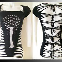 Juniors / Womens Black Top Star Goddess Special by LasciviousGrace