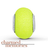 Charmed Memories Neon Murano Glass Charm Sterling Silver