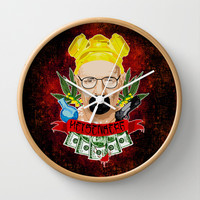 Breaking bad Heisenberg Blood money Decorative Circle Wall Clock Watch by Three Second