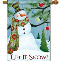 Let It Snow Standard Flag