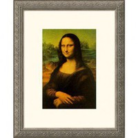 Great American Picture Mona Lisa Silver Framed Print - Leonardo da Vinci - 751-Silver - Decor