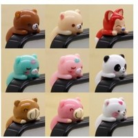 Stylish Lovely Animal Anti-Dust Ear Cap Kawaii Mobile Phone & Tablet Jack Plug
