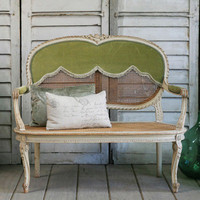 One of a Kind Antique Cane Bench