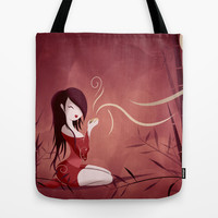 Tea Time Tote Bag by LouJah | Society6