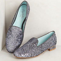 Glitzed Smoking Loafers