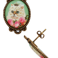 ModCloth Cats Don't Mew Look Cute Earrings