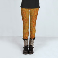 Orange Kaleidoscope by KCavender (Leggings)