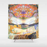 Love & Water Snakes Shower Curtain by BeautifulHomes