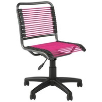 Bungie Low-Back Black and Pink Office Chair - #2J012 | LampsPlus.com