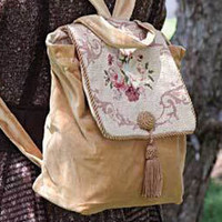 Needlepoint Backpack Purse $89.99