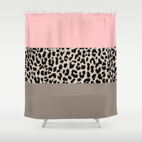 Leopard National Flag XVI Shower Curtain by M Studio