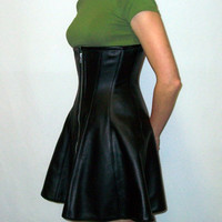 22 Ava Skirt Black Leather