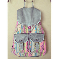 Pastel Aztec World Traveler Backpack