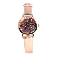 Copper Galaxy Glitter Watch