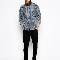 Wood Wood Remi Shirt in Baroque Border Print