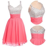 New Sweetheart Mini Party Short Dress Homecoming Bridesmaid Cocktail Prom Gowns