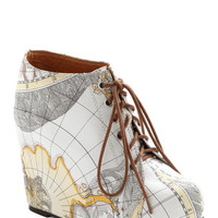 Jeffrey Campbell Mapmaking Your Move Wedge | Mod Retro Vintage Boots | ModCloth.com