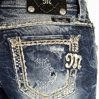 Miss Me Rhinestone Easy Boot Stretch Jean