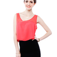 Papaya Clothing Online :: CROP CHIFFON TOP
