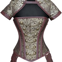 Gold and Brown Steampunk Corset Outfit