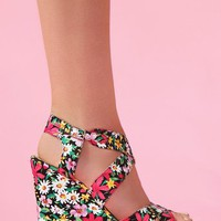 Wildflower Platform Wedge in Shoes at Nasty Gal