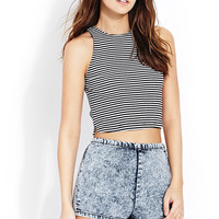 Throwback Striped Crop Top