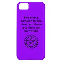 Purple Violet Protected Pagan Wiccan iphone 5 case
