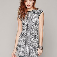 Free People Intimately Printed Cap Sleeve Bodycon