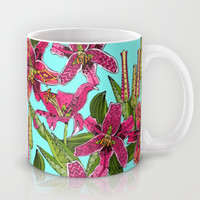 stargazer lilies Mug by Sharon Turner | Society6