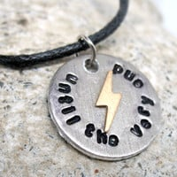 Until the Very End - Harry Potter Necklace, Hand Stamped Pendant on Leather Cord
