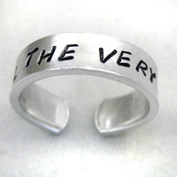 Until the Very End - Harry Potter Ring, Hand Stamped, Adjustable