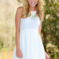 EVERLY:Take A Walk With Me Dress-White