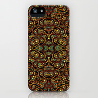 Grunge Circles Pattern iPhone & iPod Case by Danflcreativo