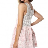 Pink Paisley Lace Dress
