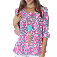 Sweet Escape Print Blouse