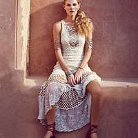 Free People Womens Sand Dollar Knit Maxi - Ivory,