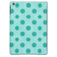 Turquoise Floral Damask Pattern iPad Air Case
