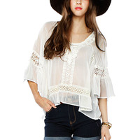 Papaya Clothing Online :: PEASANT CHIFFON TOP