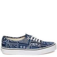 The Authentic Sneaker in Van Doren Navy Paisley Print