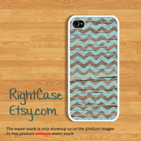Blue Chevron WOOD IPHONE 5S CASE Mint Wooden iPhone Cases iPhone 5 Case iPhone 4 Case iPhone 5c iPhone 4s Samsung Galaxy S4 Cover Galaxy S3