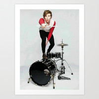 Ashton on teen now Art Print by kikabarros
