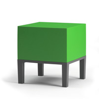 I liked this design on #Fab. Primary Pouf 01 Chartreuse