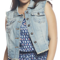 Frayed High-Low Denim Vest | Wet Seal +