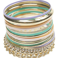 Colorful Bangle Set | Wet Seal