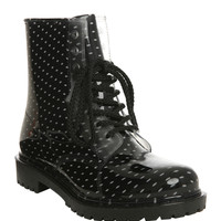Dirty Laundry Polka Dot Rain Boot