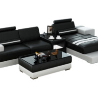 Fiji Mini Leather Sectional by Scene Furniture - Opulentitems.com