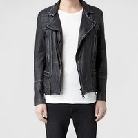 AllSaints Cargo Leather Biker Jacket | Mens Leather Jackets