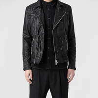 AllSaints Kushiro Leather Biker Jacket | Mens Leather Jackets