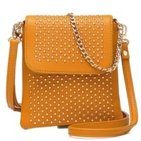 Vintage Studded Rivets Chain Strap Crossbody Messenger Bag Small Satchel